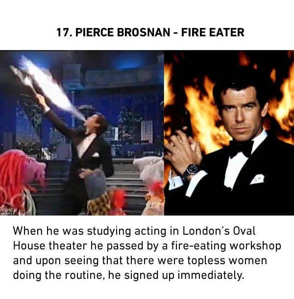 pierce brosnan fire eater