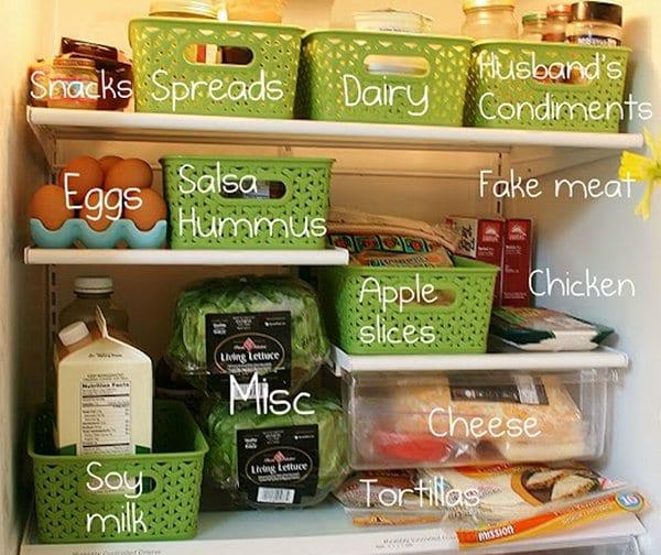plastic fridge bins
