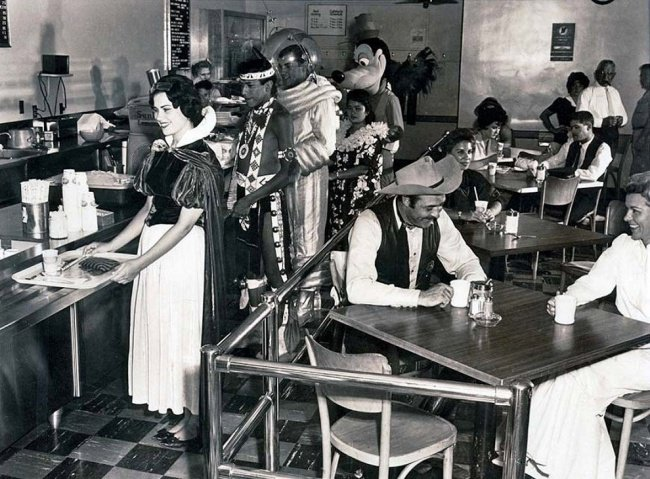 rare historical photographs disney employee cafe