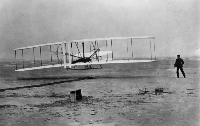 rare historical photographs first flight