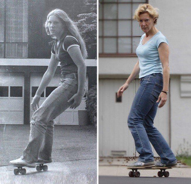 skateboard kid adult