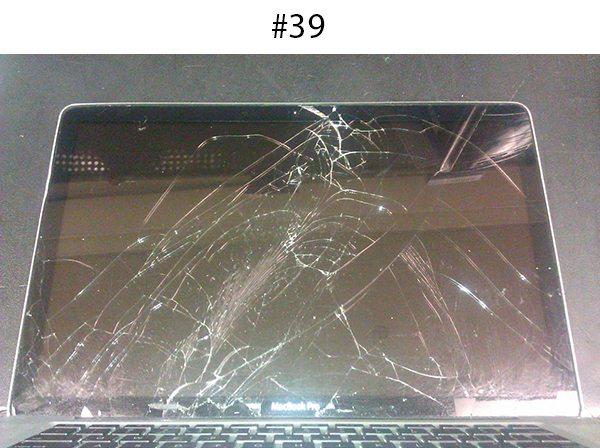smashed mac book pro