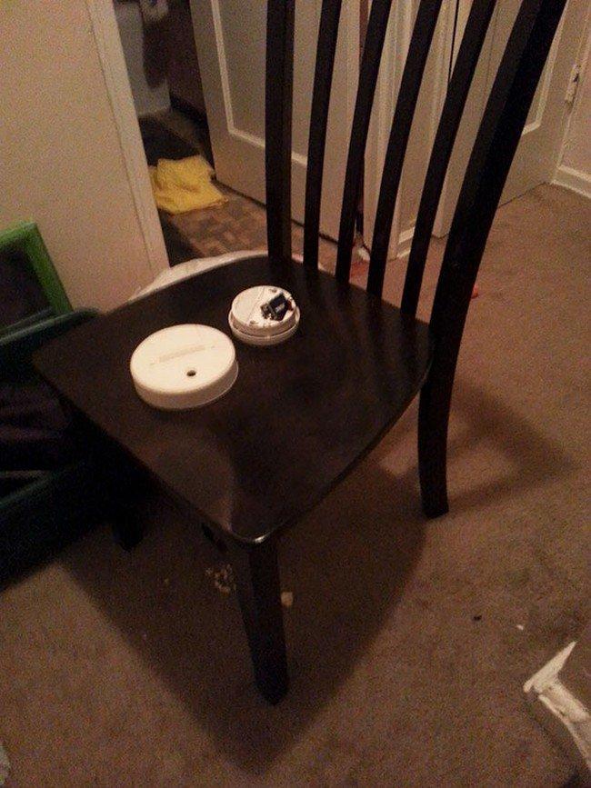 smoke alarm chair