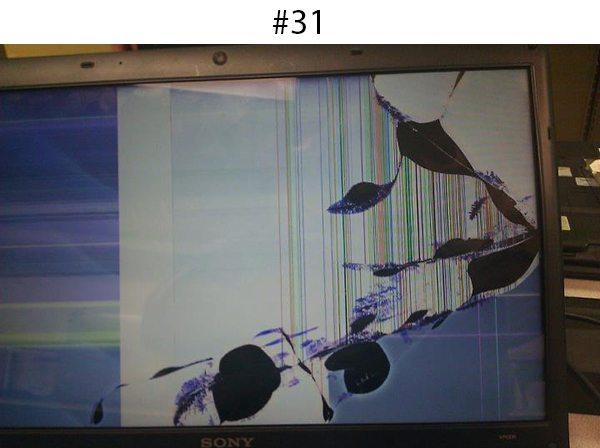 splattered screen