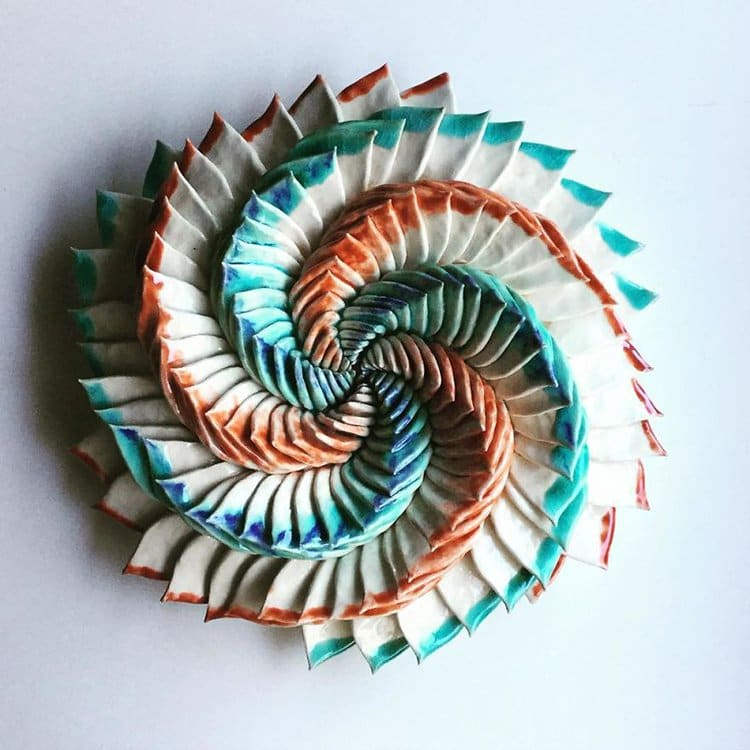succulent clay sculptures spiral