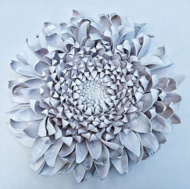 succulent clay sculptures white