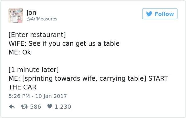 table tweet