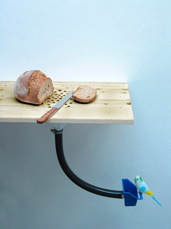 unique inventions cutting board bird feeder