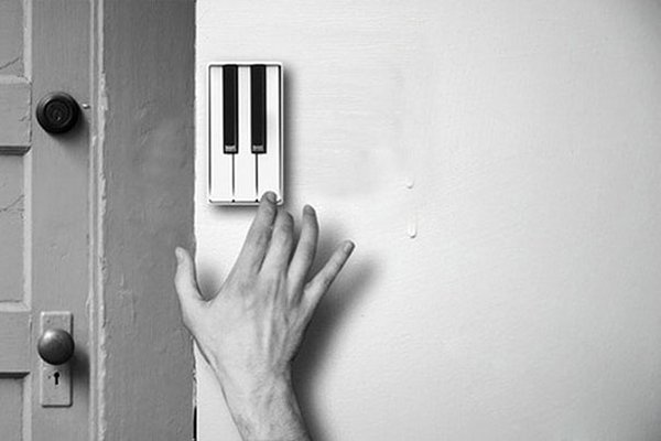 unique inventions piano door bell
