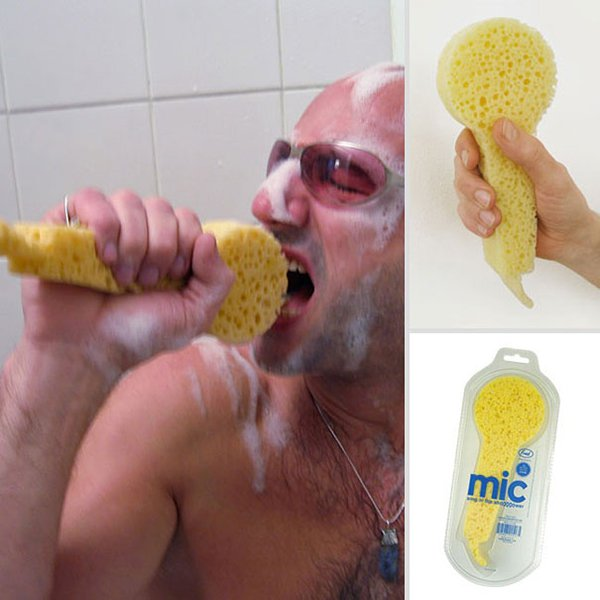 unique inventions sing in shower sponge