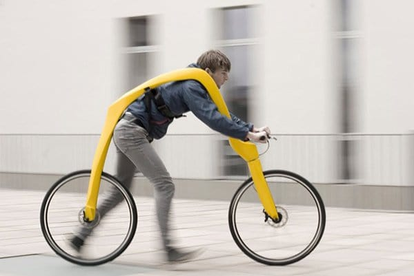 unique inventions walking powered bike