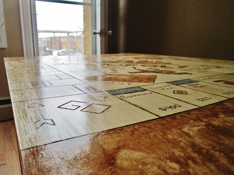 varnish application monopoly table