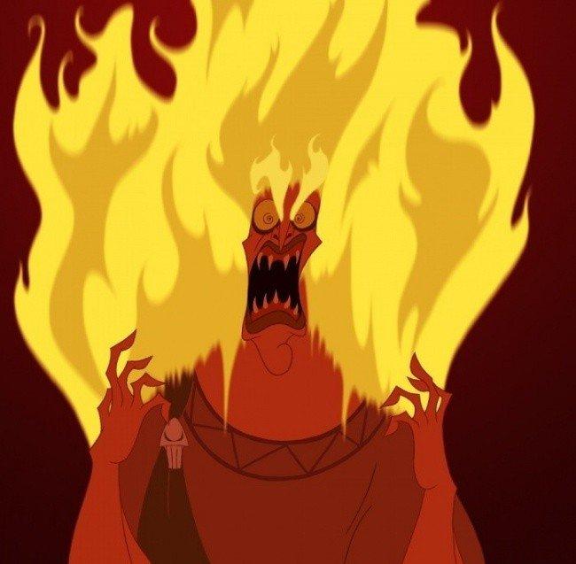 villain fire head