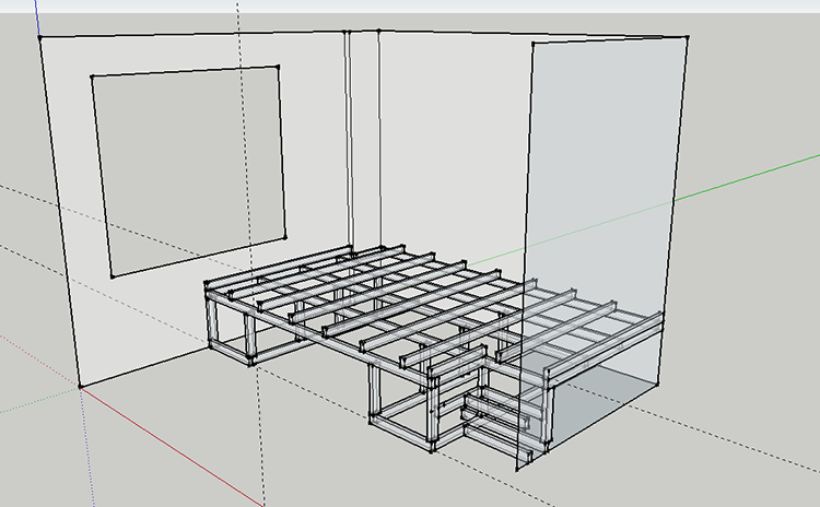 3d sketch bedroom plans