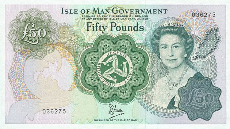 Queen Elizabeth aged 51 isle of man note