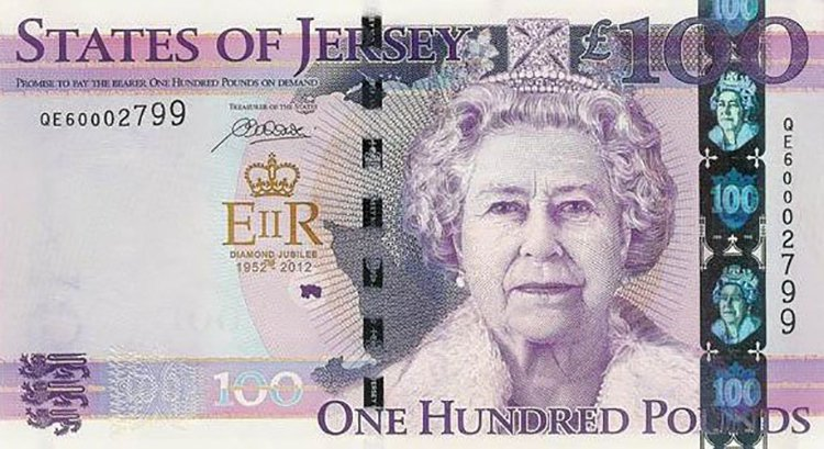 Queen Elizabeth aged 78 jersey note