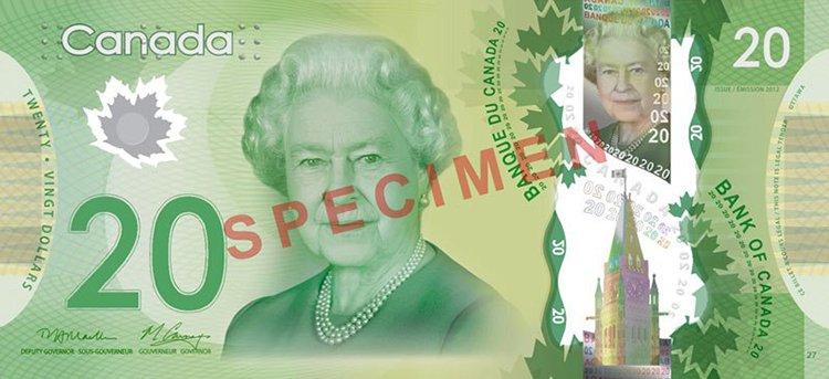 Queen Elizabeth aged 85 canada note