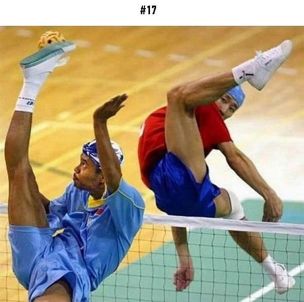 awkward sports moments legs in the air