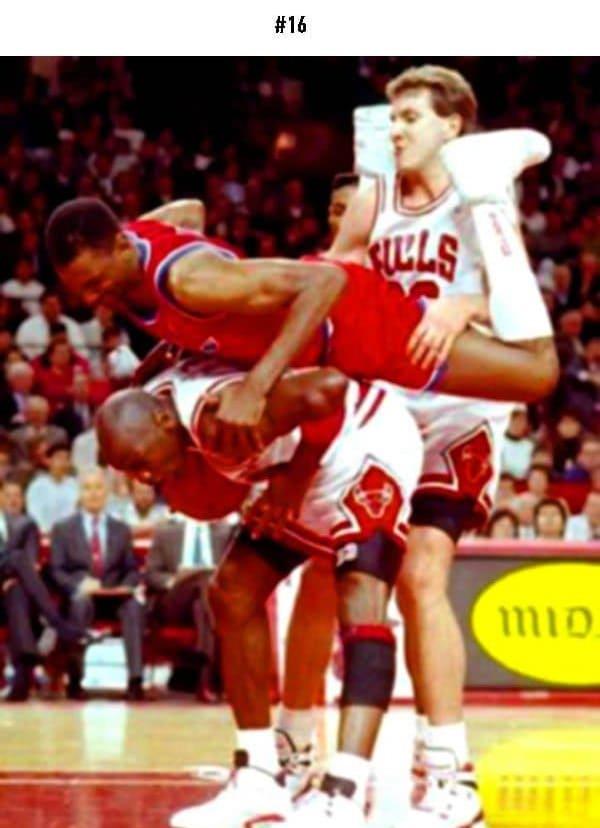awkward sports moments player piggyback