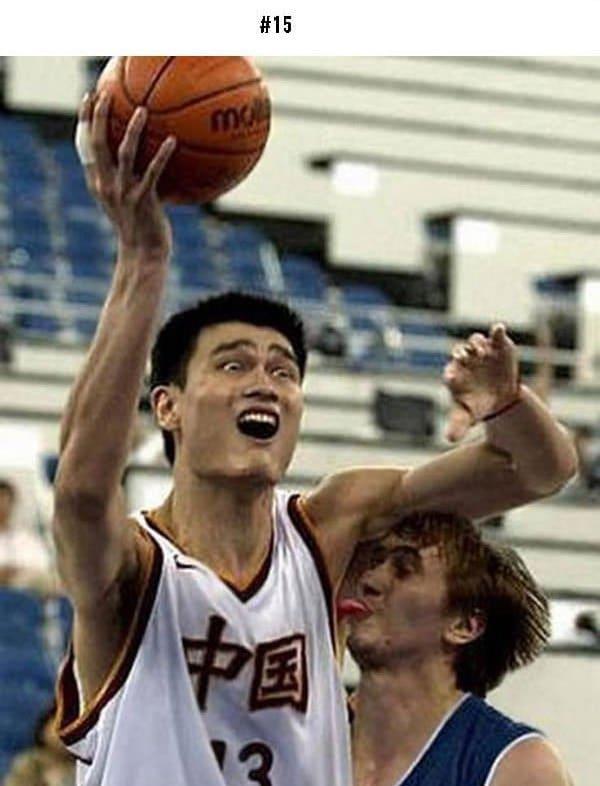 awkward sports moments tongue in armpit