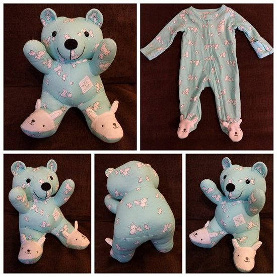 baby clothes into bear bunny slippers