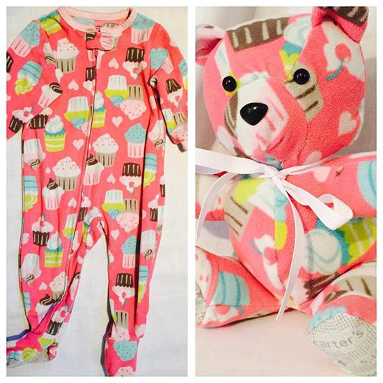 baby clothes into bear cupcakes