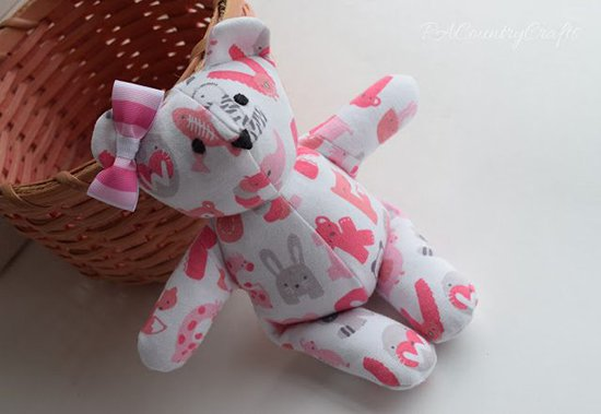 baby clothes into bear pink bunnies