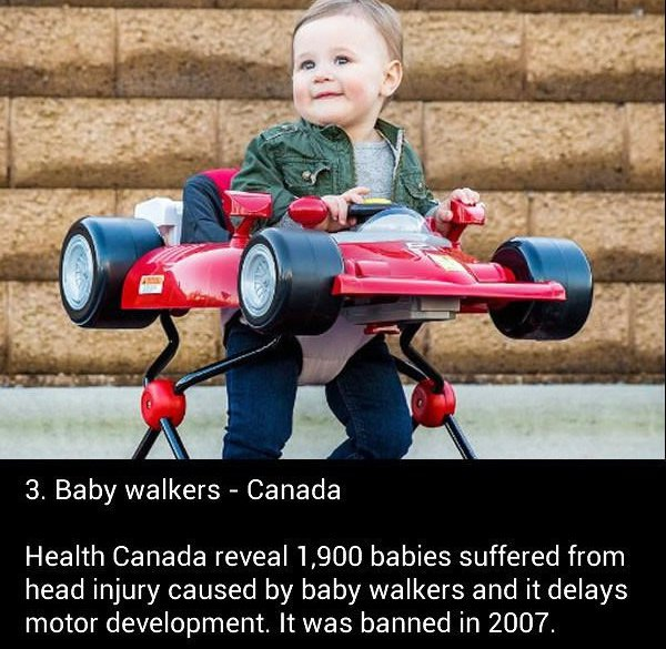 Baby Walkers Are Banned In Canada - Unreal Facts