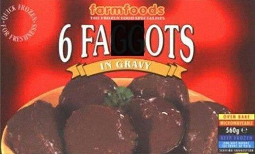 bad food names faggots in gravy