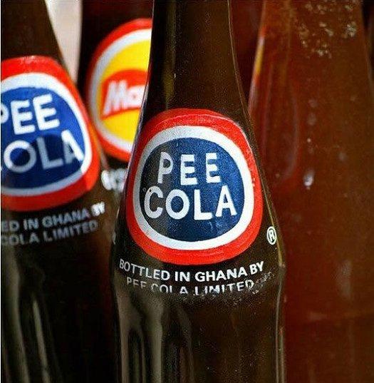 bad food names pee cola