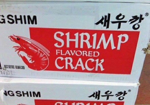 bad food names shrimp flavored crack