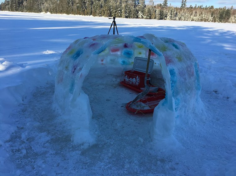 building an igloo archway