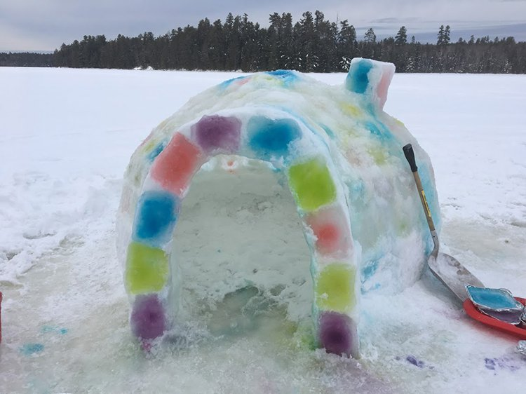 building an igloo entrance