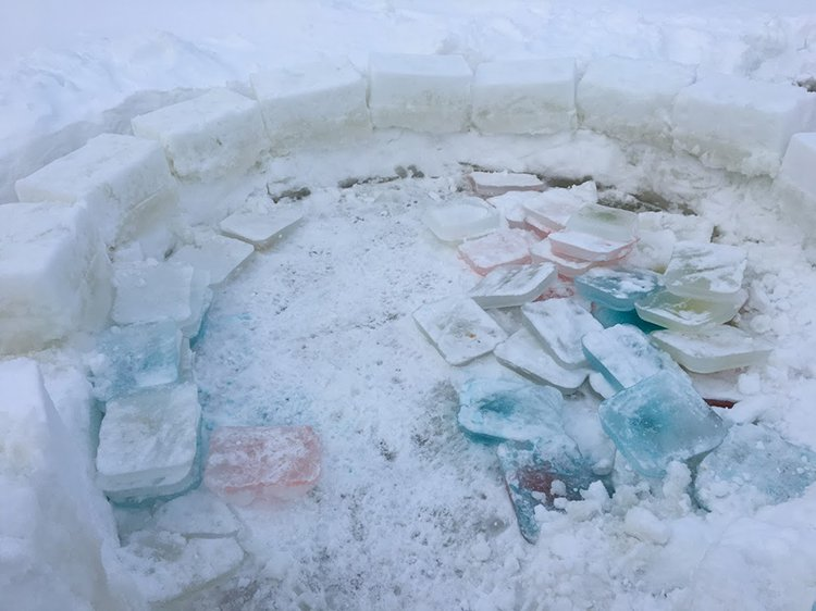 building an igloo flooding