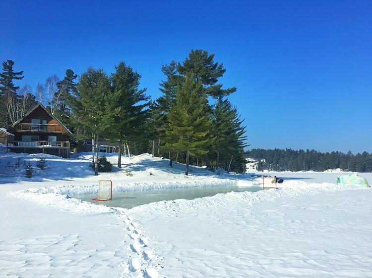 building an igloo ice hockey rink