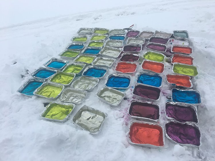 building an igloo ice pallets
