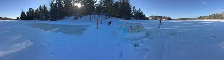 building an igloo panorama view