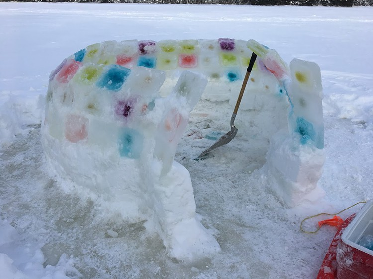 building an igloo shovel for support