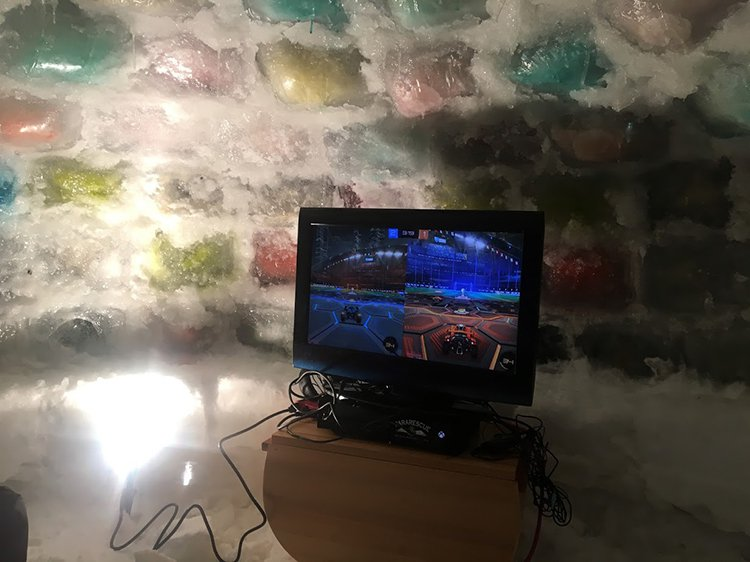 building an igloo tv inside