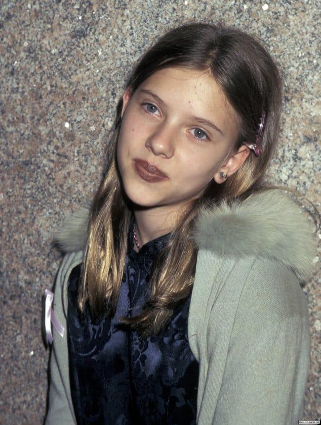 celeb child photos scarlett johansson