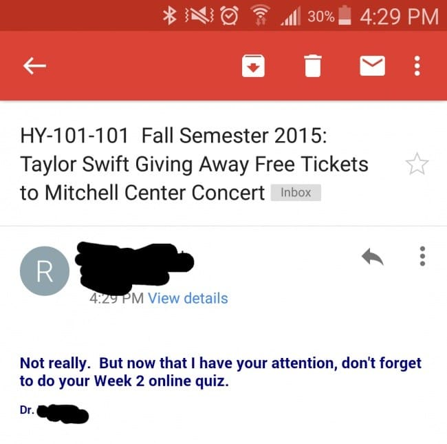 cool teacher photos taylor swift ticket email