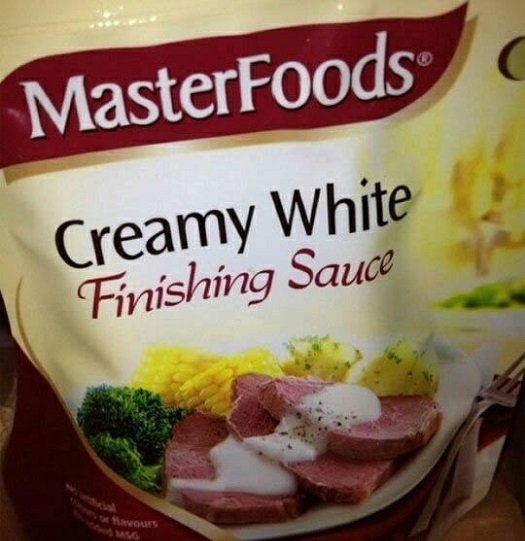 creamy white finishing sauce