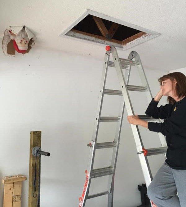 dropped-santa through ceiling