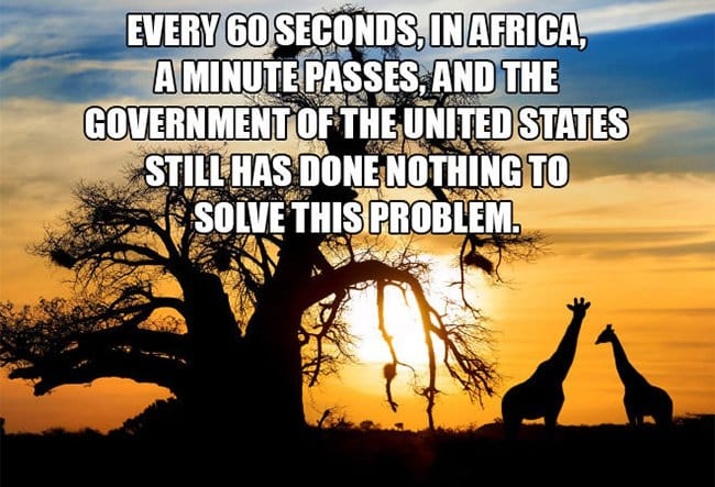 every 60 seconds a minute passes in africa