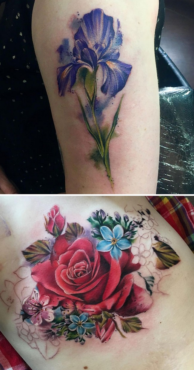 floral tattoo art chloe aspey