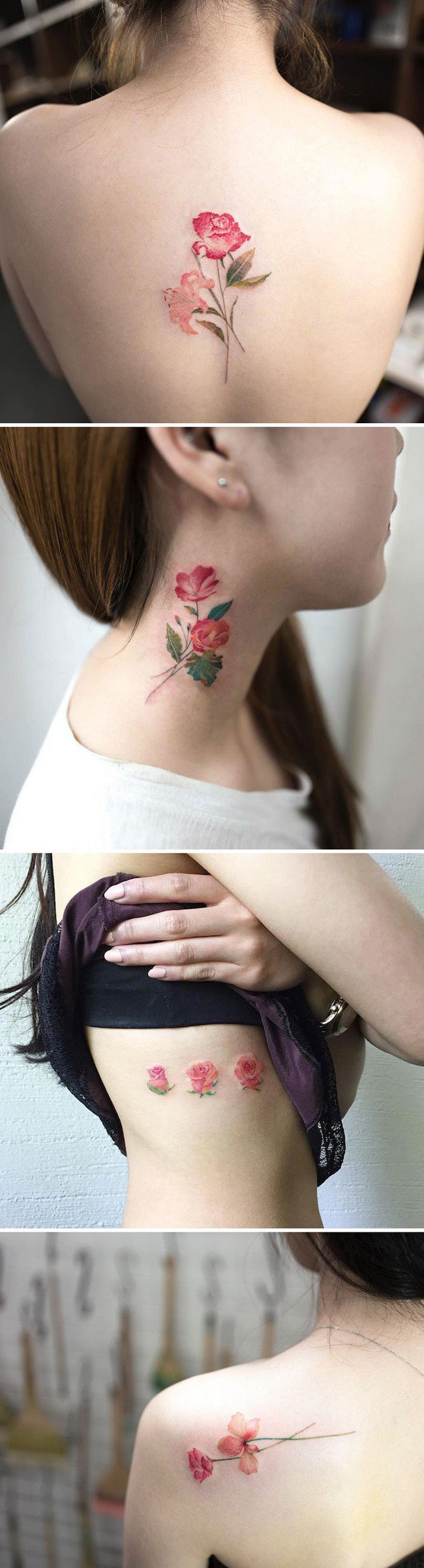 floral tattoo art hongdam