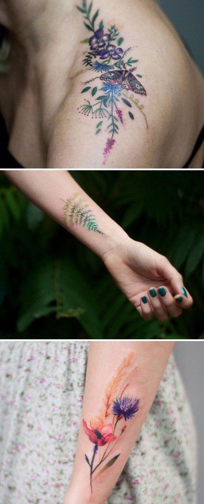 floral tattoo art magdalena bujak