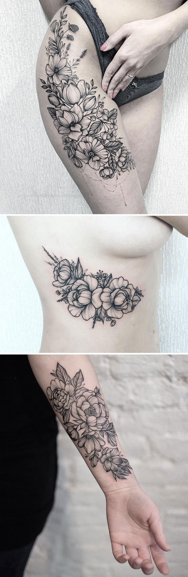 floral tattoo art nastya mysh