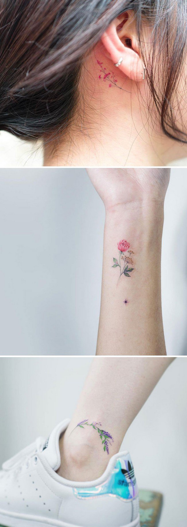 floral tattoo art sol
