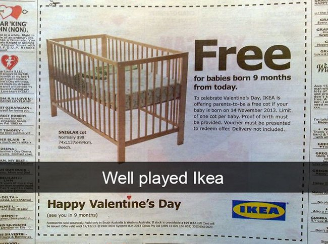 free cot for babies born 14th nov ikea